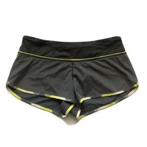 Lululemon Wet Dry Warm Gray Split Pea Shorts 8